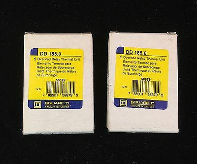 Square D DD 185.0 Overload Thermal Unit lot of 2