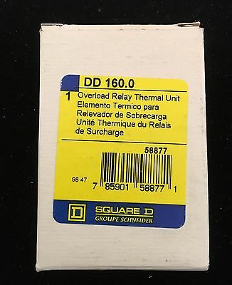 Square D DD 160.0 Overload Thermal Unit lot of 3