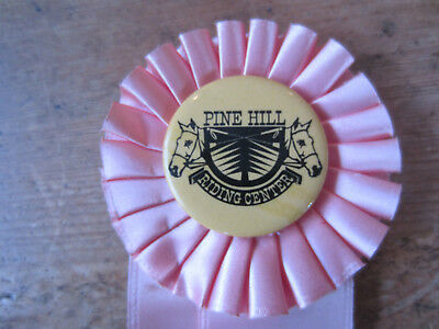 Vintage Pine Hill Riding Center Pink Horse Show Ribbon 1974