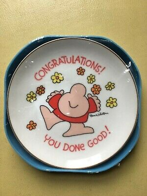Vintage Ziggy Congratulations Plate 1982 American Greetings NEW