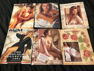 Lot A Of 6 Vintage Night 'n Day Intimates Catalogs 1980s/1990s