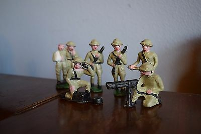 6 Collectible Vintage Antique Led Metal WWI World War One Toy Soldier Army Men