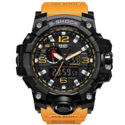 SMAEL Waterproof Sports Military Watches Shock Men's Analog Quartz Digital Watch