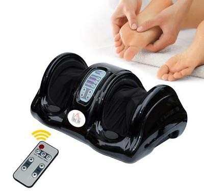 HOMCOM Electric Foot Massager With Remote Control - Black