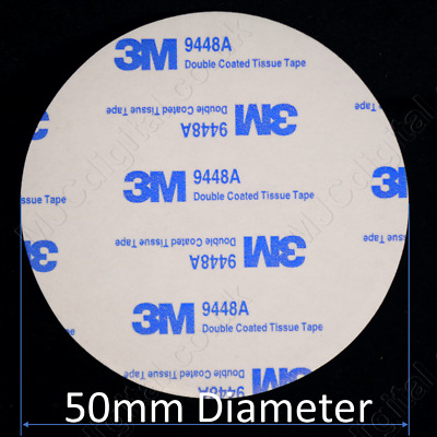 3M 50mm Diameter EVA Pad BLACK or WHITE Foam Pads Round Double Sided 2mm Thick