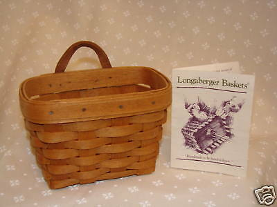 AMBROSIA Booking Collection Basket Hostess Only Longaberger Retired *NEW*