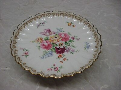 1 Footed ENGLAND'S BOUQUET Crown Staffordshire CAKE STAND SERVER F.T. Jones TR9