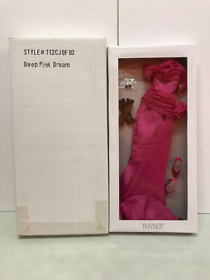 Tonner Cami Deep Pink Dream outfit only chiffon lovey NRFB New Jon slim bodies
