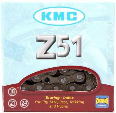 "KMC Z51 5/6/7/8-Speed 3/32"" Bicycle Chain w/ MissingLink 116L fits Shimano SRAM"