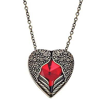 DaisyJewel Bronze and Red Heart Angel Wings of Love Pendant Necklace