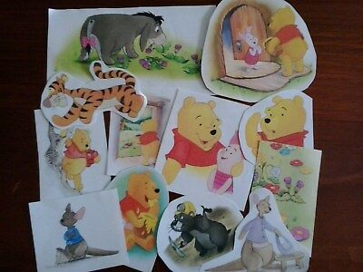 Winnie the pooh vintage paper scrap pack illustrations pictures for art craft