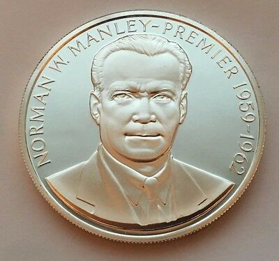 1971 Jamaica Proof Silver Five Dollars Norman W. Manley-Premier Coin