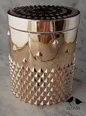 Rose Gold Stud Jar - Soy Wax Candle 70 Hours - Double Wicked - Free Post