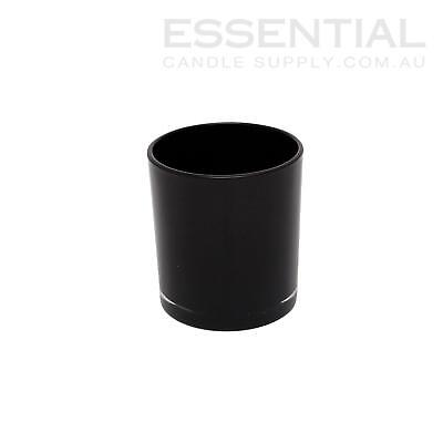 Glass Candle Jar 300ml Black x1