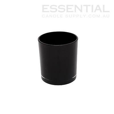 Glass Candle Jar 300ml Black x48