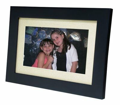 Smartparts SP92 8.5-inch Digital Picture Wood Frame with Beige Matting Ebony