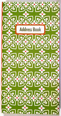 NEW Hardcover Address Book Green FREE Postage