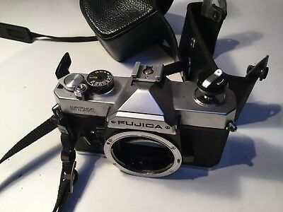 Fujifilm FUJICA STX-1 35mm SLR Film Camera Body & Case Only