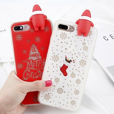 New Christmas Pattern Case TPU Soft Cover For Apple iPhone 6 6S Plus 7 8 Plus