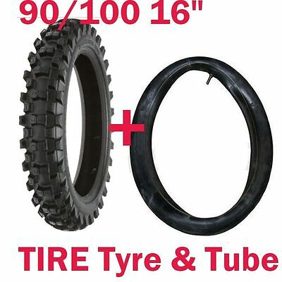 "16"" Inch Knobby Rear Tyre With Tube, 90/100-16 Tire, Dirt/Pit bike,Pro Bike,MX"
