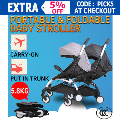Portable Baby Stroller Bassinet Car Safety Pram Seat Jogger Carry-on Foldable AU
