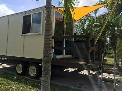 Tiny House on Wheels 8 x 22, Camper Cabin 120 sq ft with 22 ft trailer