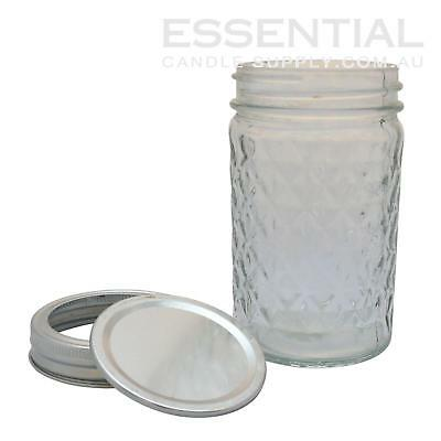 Mason Jar, Quilted 226ml, Pack 12