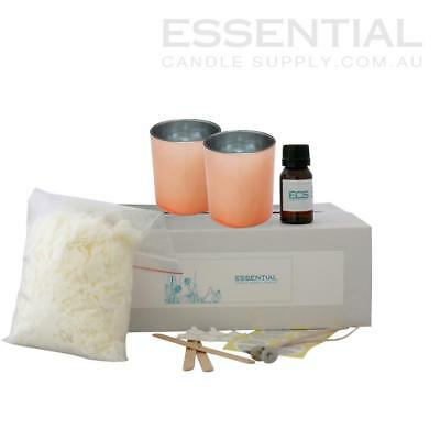 Soy Candle Making Kit 6 x Rose Gold Glass Jars