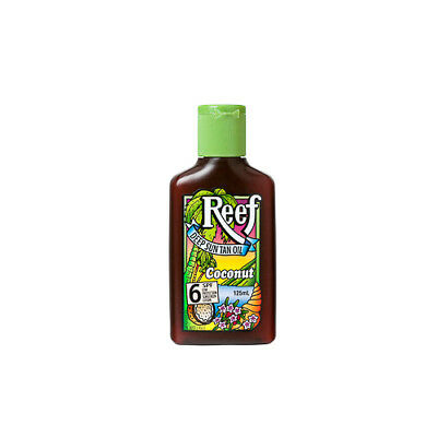 NEW Reef Tanning Lotion Dark Sun Tan Oil SPF 6+ Coconut 125mL