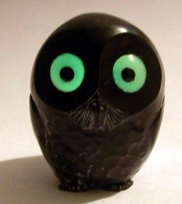 Harmony Kingdom Artst Neil Eyre Designs Onyx barn owl glow in dark eyes le20