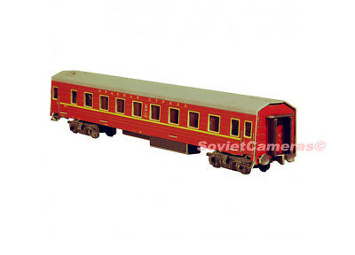 1 87 ho scale russian sleeping passenger car railway cardboard model kit new cad. Black Bedroom Furniture Sets. Home Design Ideas