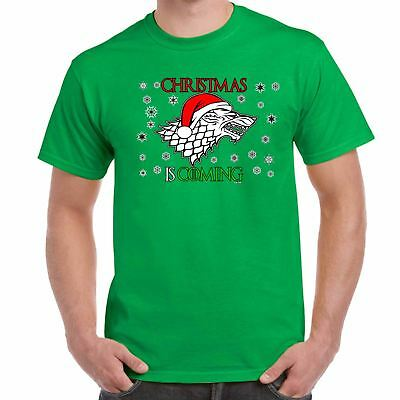 Mens amusing T Shirts-Christmas festive (Winter) is Coming-Game of Thrones Tee