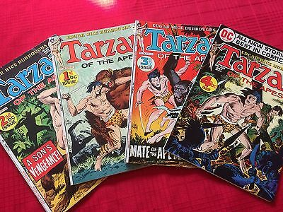 Tarzan of the Apes #207-210 (DC Comics 1972) First four DC Issues Origin. Kubert