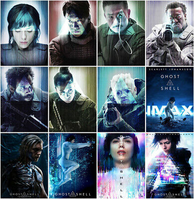 12 Ghost in the Shell Movie 2017 Mirror Surface Postcard Promo Poster Card B098