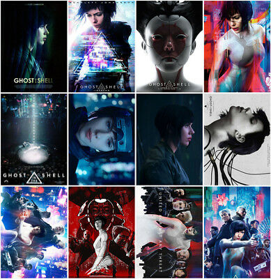 12 Ghost in the Shell Movie 2017 Mirror Surface Postcard Promo Poster Card C099