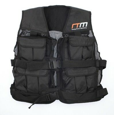 Vest Weighted Training Weight Adjustable Gym Crossfit Exercise Fitness 40lbs