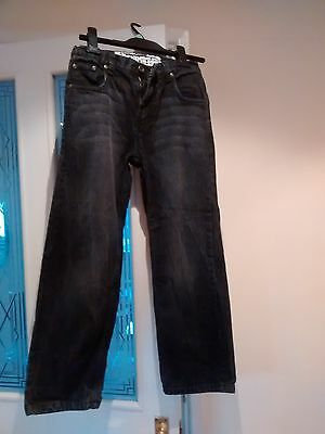 Boys denim black jeans age 9-10 years Cherokee