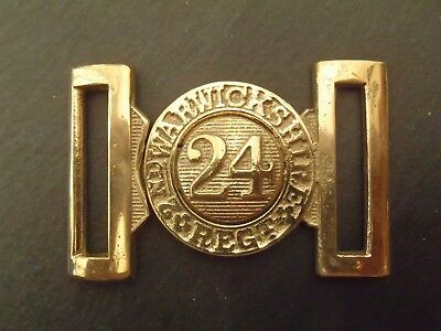 British Zulu War 2nd Warwickshire 24th Regiment of Foot Belt Buckle Solid Brass