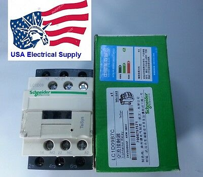 New Schneider LC1D09B7C Contactor  with coil  24VAC