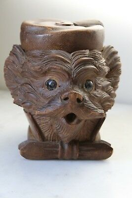 Scarce Antique Black Forest Terrier Tobacco Jar
