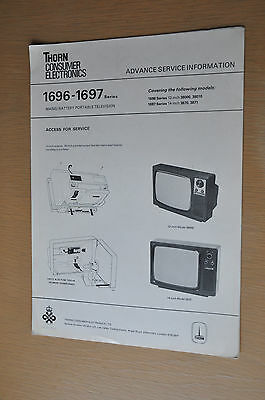 Thorn 1696 / 1697 Series Mains / Battery Television Genuine Service Manual