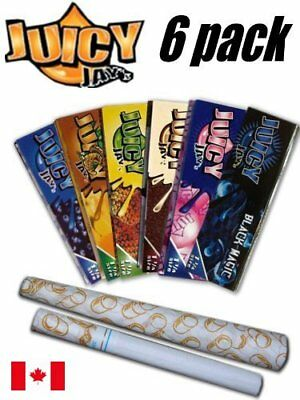 6 Pack Variety Juicy Jay Flavoured 1 1/4 Rolling Papers + 1 Juicy Jay Jones