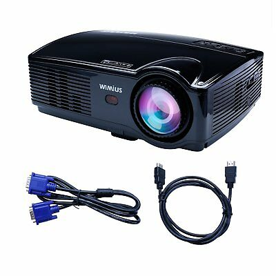 Projector WIMIUS T4 3200 Lumens 1280*800 HD LED Video Projector Multimedia Home