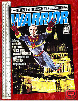 Warrior Magazine #16 with V for Vendetta & Marvelman by Alan Moore