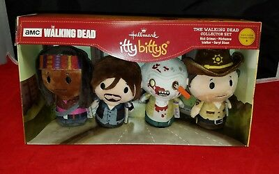 HALLMARK ITTY Bittys The Walking Dead Collector Set Rick Grime Figures AMC