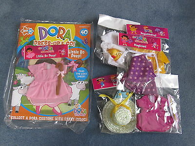 """Dora Dress Up And Go """"little Bo Peep"""" Magazine No. 40 + 2 Additional Outfits"""