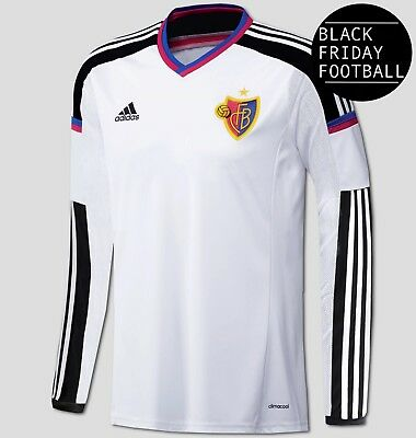 FC Basel Away Shirt - Official adidas Swiss Shirt - Mens - *Black Friday Sale*