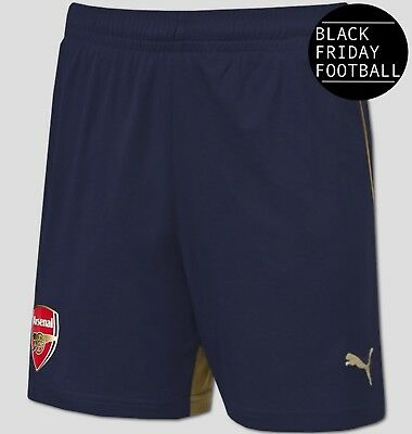 Arsenal Away Shorts - Official Puma Boys Football Shorts - Black Friday Sale