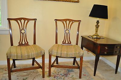 Antique Mahogany Chippendale Dining Chairs