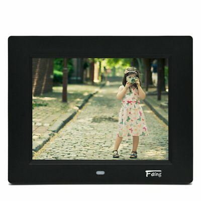 8 Inch Hi-Resolution LED Digital Photo Frame & HD Video Playback with 8GB SD